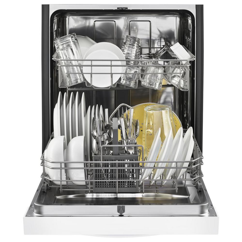 Whirlpool Front Control Tall Tub Dishwasher In White With Stainless Steel Tub Wdf550sahw The Home Depot
