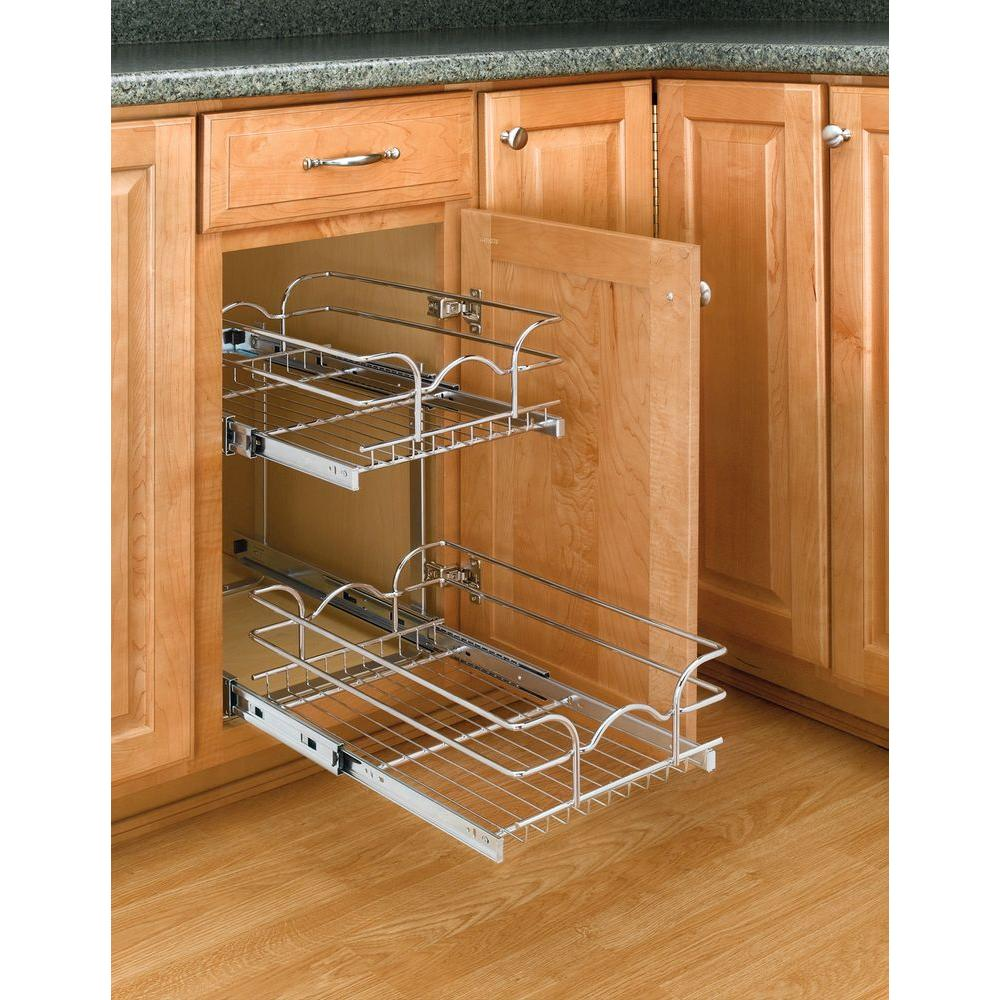 Best Kitchen Gallery: Rev A Shelf 19 In H X 8 75 In W X 18 In D 9 In Base Cabi Pull of Kitchen Cabinet Drawer Kits on rachelxblog.com