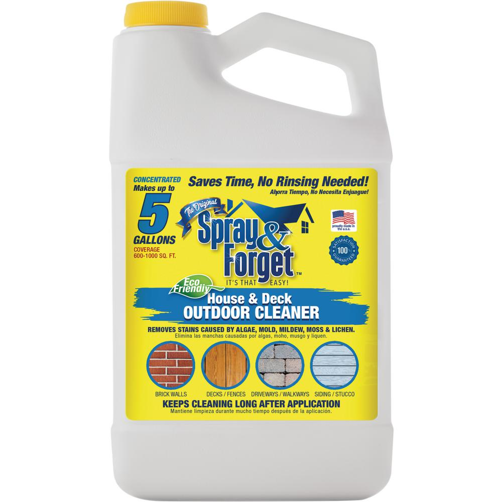 House And Deck Cleaner Outdoor Mold Remover Concentrate Bottle