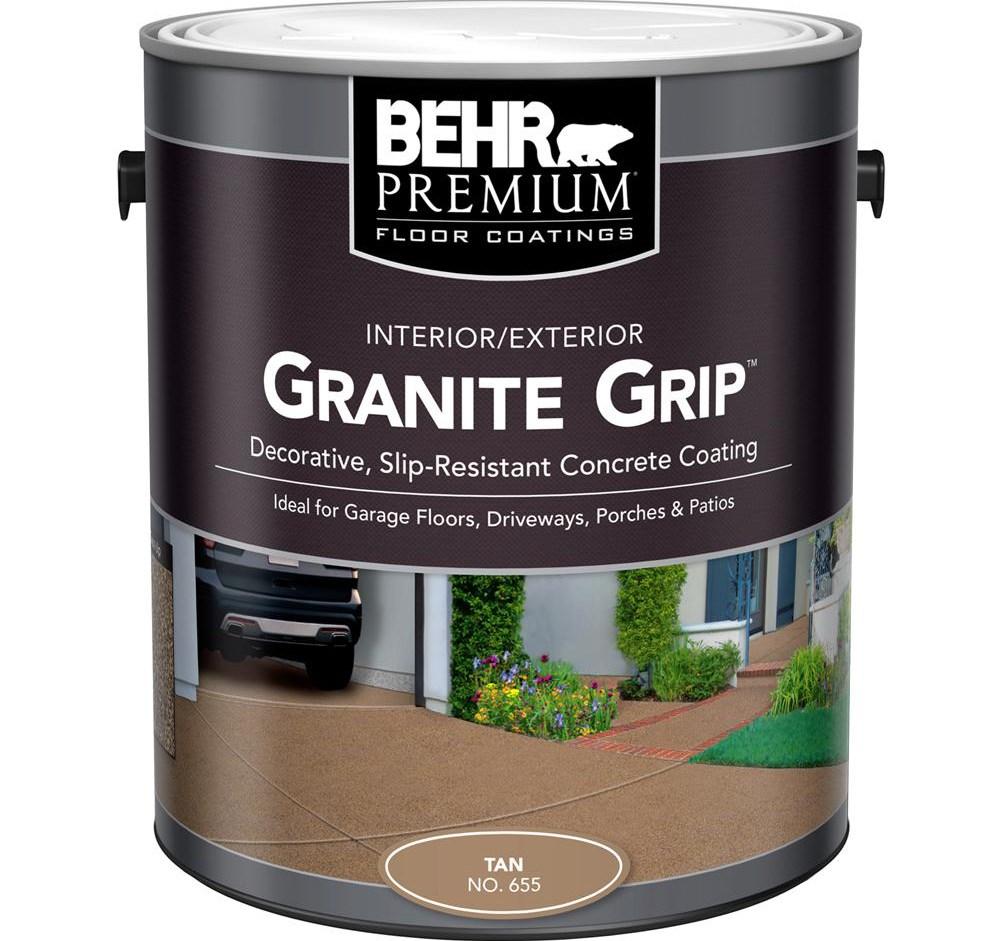 Behr 1 Gal 65501 Tan Granite Grip Interior Exterior | Patio Steps Home Depot