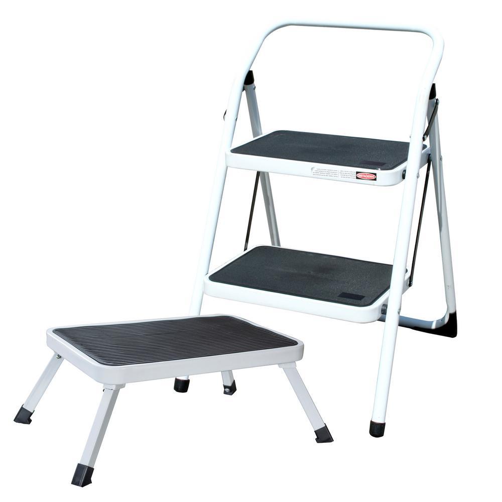 Amerihome 2 Step Metal Folding Mini Step Ladder With 1 Step Folding Mini Step Stool 804614 The Home Depot
