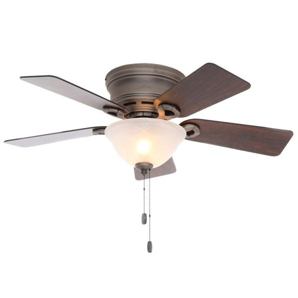 Hunter Conroy 42 in  Indoor Antique Pewter Low Profile Ceiling Fan     Hunter Conroy 42 in  Indoor Antique Pewter Low Profile Ceiling Fan with Light  Kit