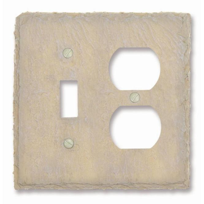 Amerelle Madison 1 Toggle Duplex Wall Plate Polished Nickel
