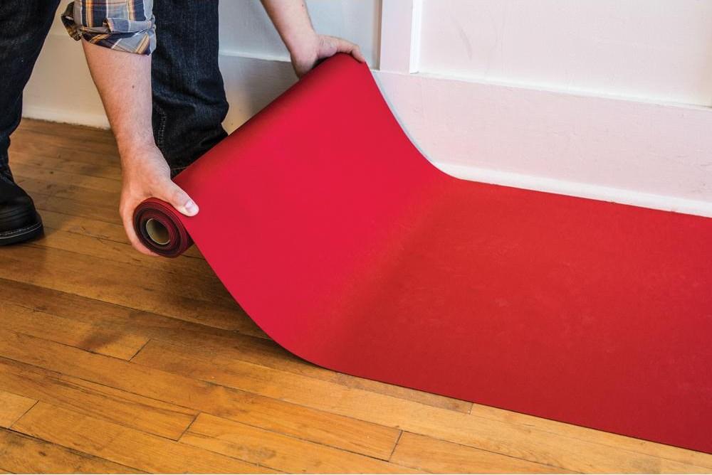 Neo Shield Reusable Red Neoprene 27 In X 20 Ft Stair Runner   Home Depot Carpet Runners For Stairs   Natco Kurdamir   Carpet Flooring   Mat   Area Rugs   Reds Pinks