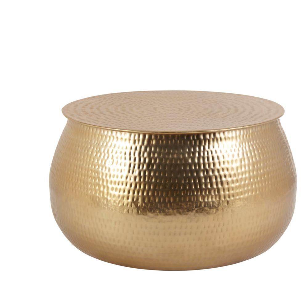 home decorators collection calluna 31 in gold medium round metal coffee table with lift top dc19 6630 the home depot