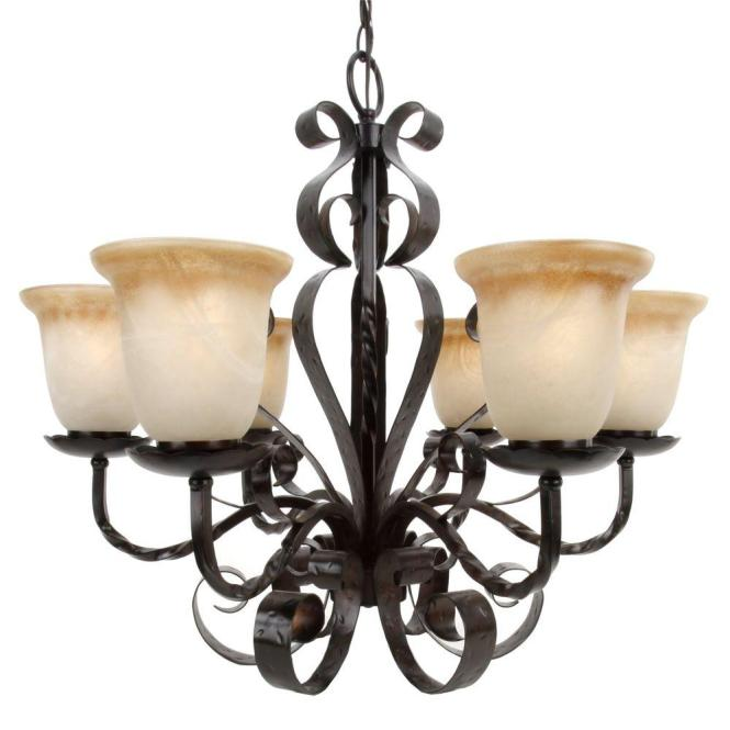 Maxim Lighting Aspen 6 Light Oil Rubbed Bronze Chandelier 20607vaoi The Home Depot