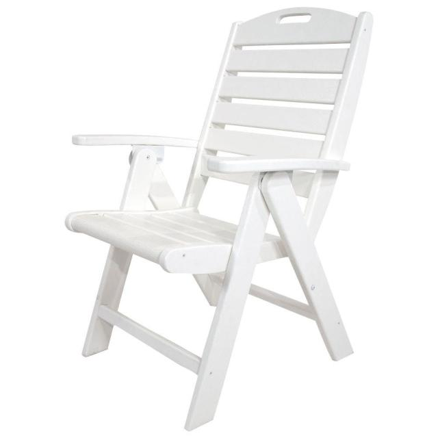 trex outdoor furniture yacht club classic white highback patio