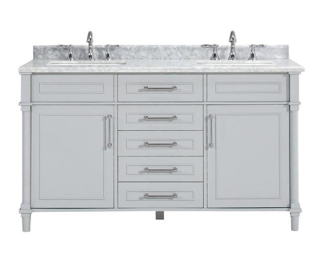 D Double Bath Vanity In Dove Grey