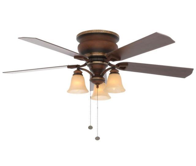 Hampton Bay Eastvale  In Indoor Berre Walnut Ceiling Fan With Light Kit