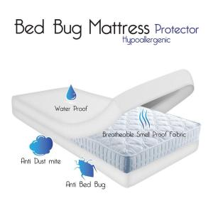 Internet 204729985 Remedy Bed Bug Dust Mite And Water Proof Mattress Zip Cover Queen