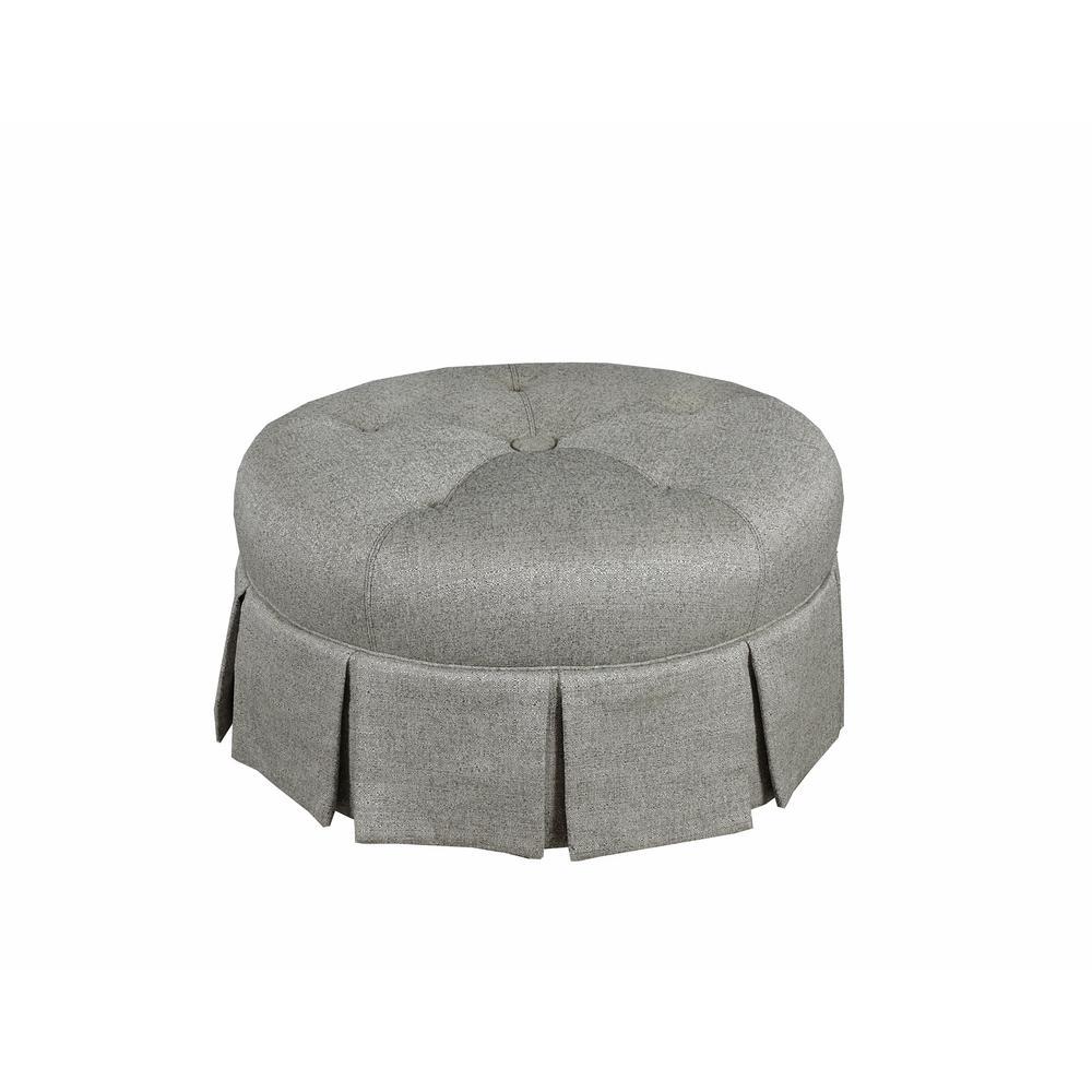 ava round pleated ottoman in midori