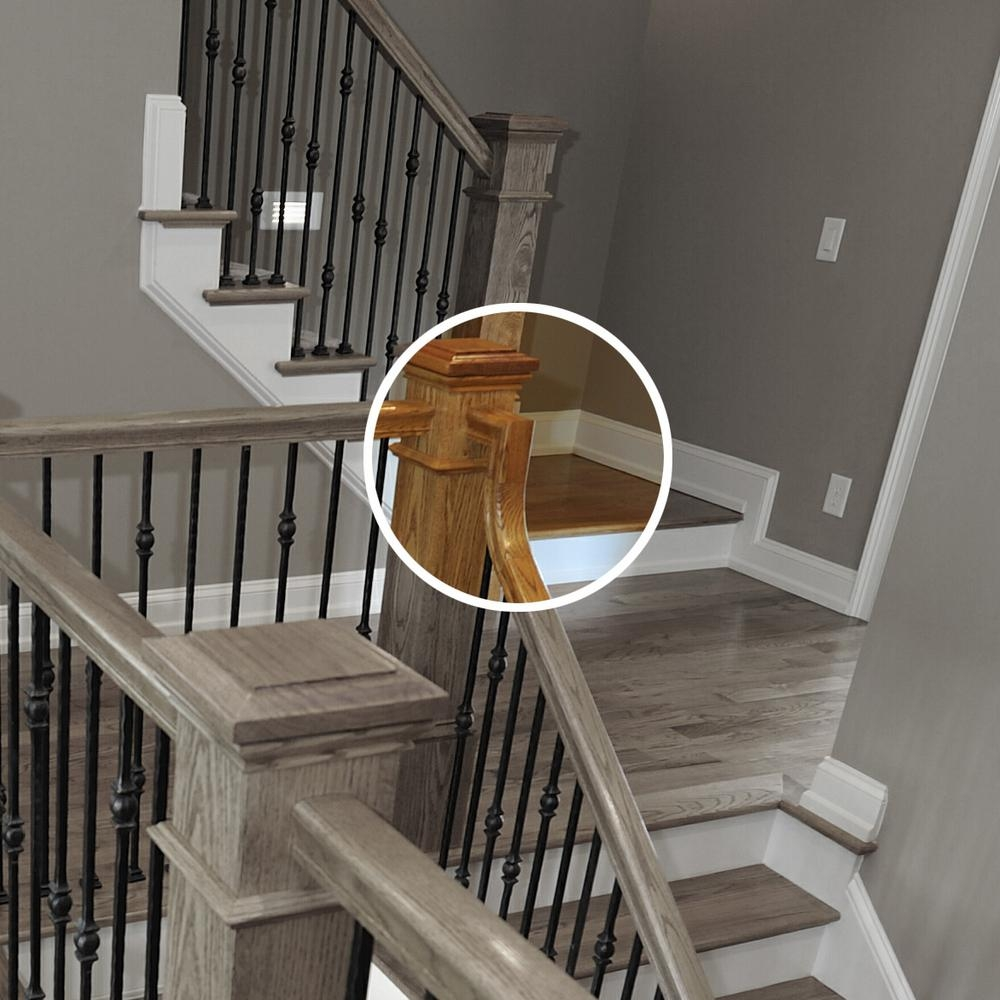 Stair Parts 7099 Unfinished Poplar 2 Rise Gooseneck Straight No | Poplar Stair Treads Home Depot | Hardwood | Baluster | Hand Rail | Wood | Risers