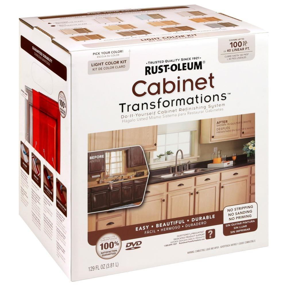 Best Kitchen Gallery: Rust Oleum Transformations 1 Qt Gray Cabi Small Kit 302137 of Kitchen Cabinet Refinishing Kit on cal-ite.com