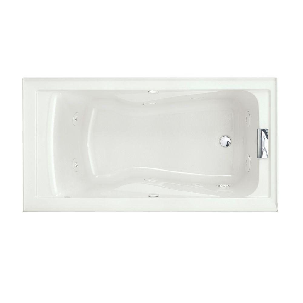 american standard evolution 60 in. x 32 in. whirlpool tub with