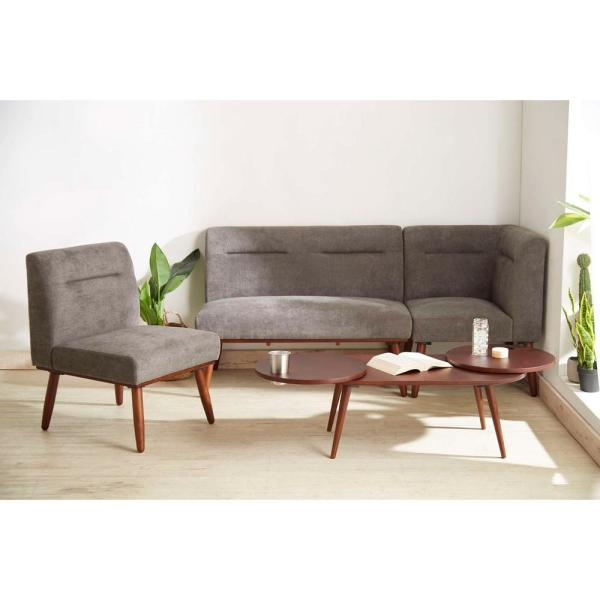 wood sectional 2 seater loveseat sofa