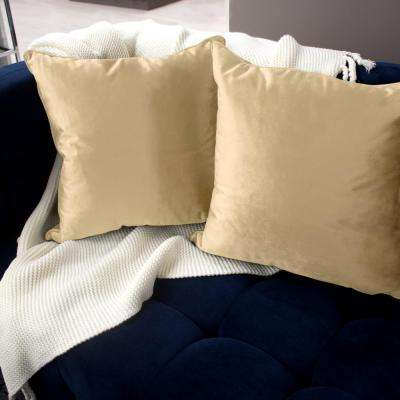 Lili Alessandra Ellie Fawn Velvet Ribbon Beads Pillow