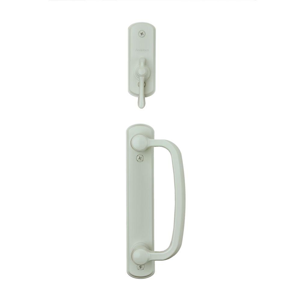 reviews for andersen albany 2 panel gliding patio door hardware set in white 9007538 the home depot