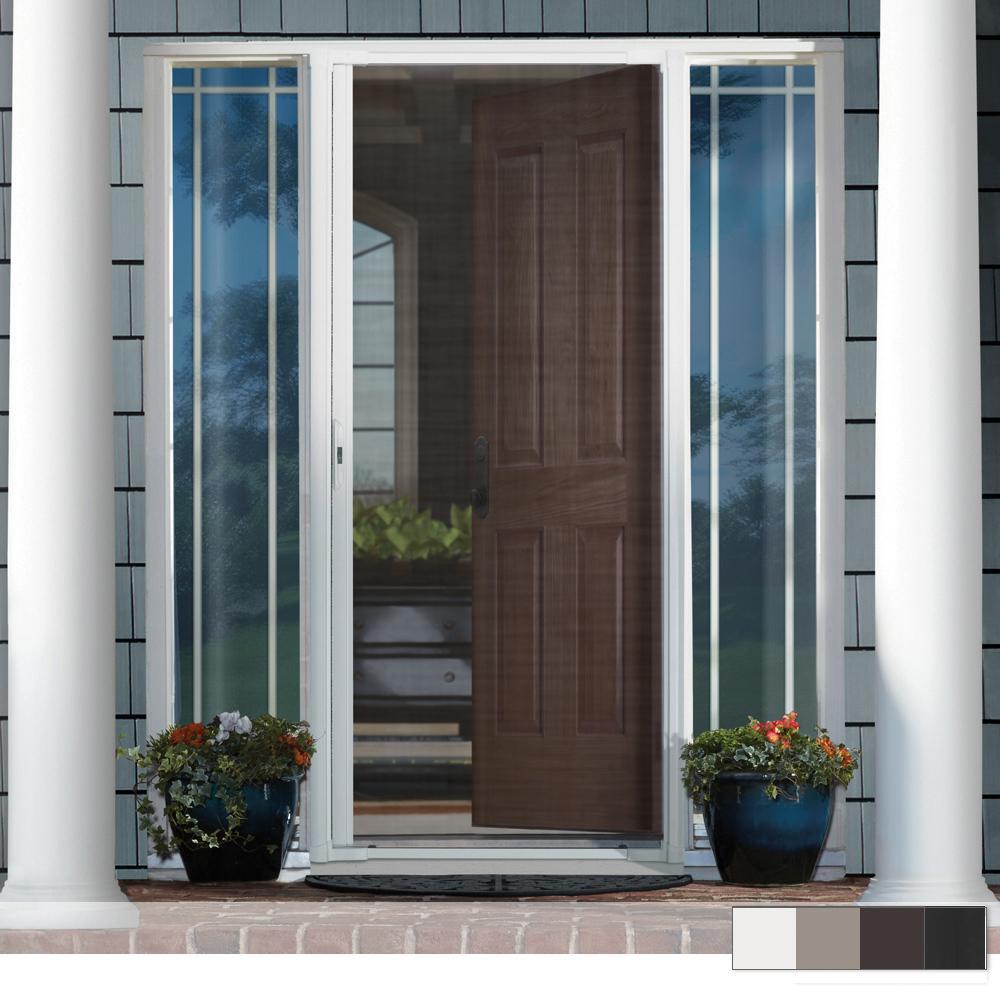 Retractable Bronze Screen Doors Exterior Doors The Home Depot
