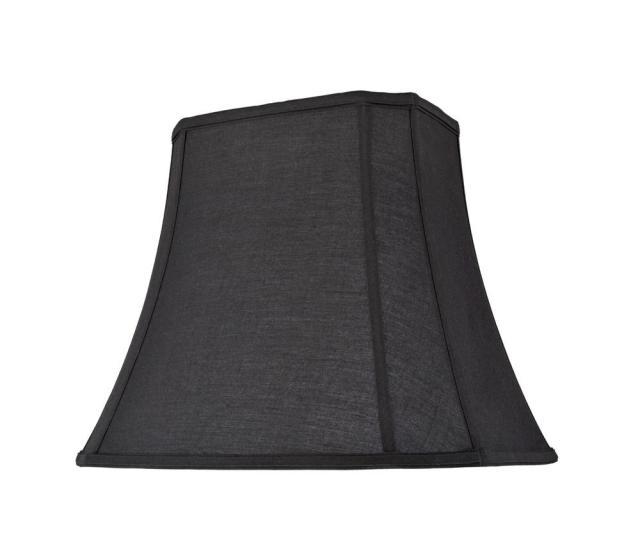 Black Oblong Cut Corner Bell Lamp Shade