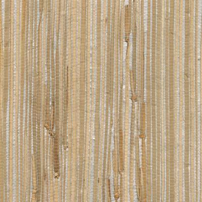 Kenneth James Tereza Silver Foil Grasscloth Wallpaper-2622 ...