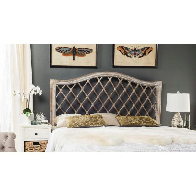 safavieh gabrielle antique grey queen headboard-sea8031b-q - the