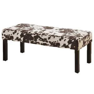 Alma Contemporary Fabric Upholstered Cowhide Pattern