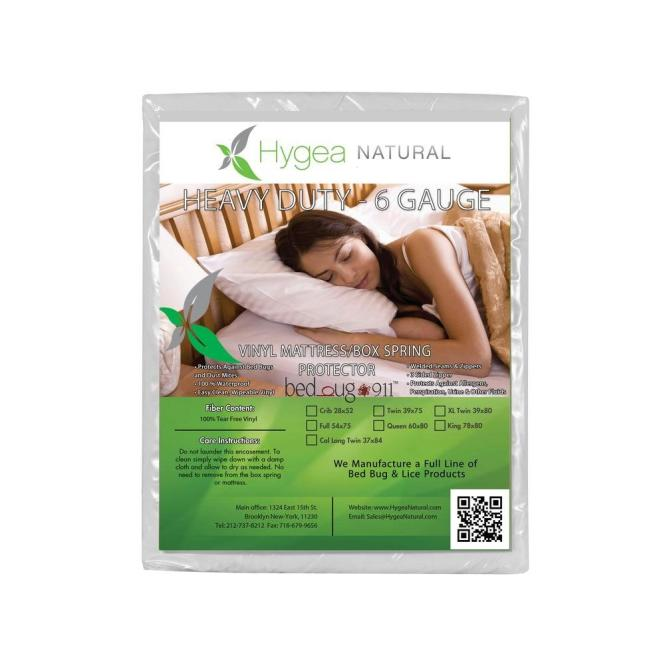 Hygea Natural Vinyl Bed Bug Proof Xl Twin Mattress Cover Or Box Spring