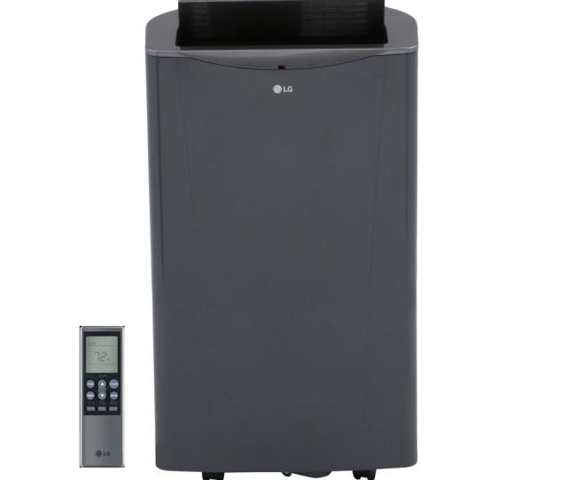 Lg Electronics 14000 Btu Portable Air Conditioner And Dehumidifier Function With Remote In Graphite Gray