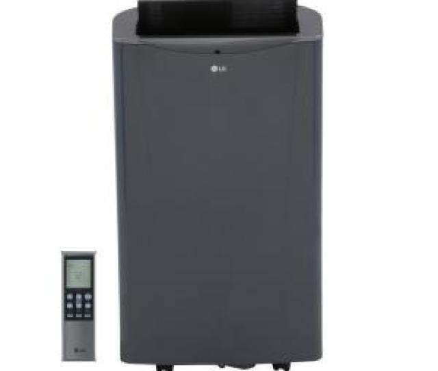 Lg Electronics 14000 Btu Portable Air Conditioner And Dehumidifier Function With Remote In Graphite Gray Lp1415gxr The Home Depot