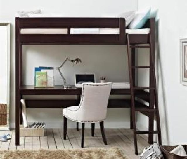 Dorel Living Georgetown Transitional Twin Loft Bed Frame With Desk In Espresso Fa6580 The Home Depot