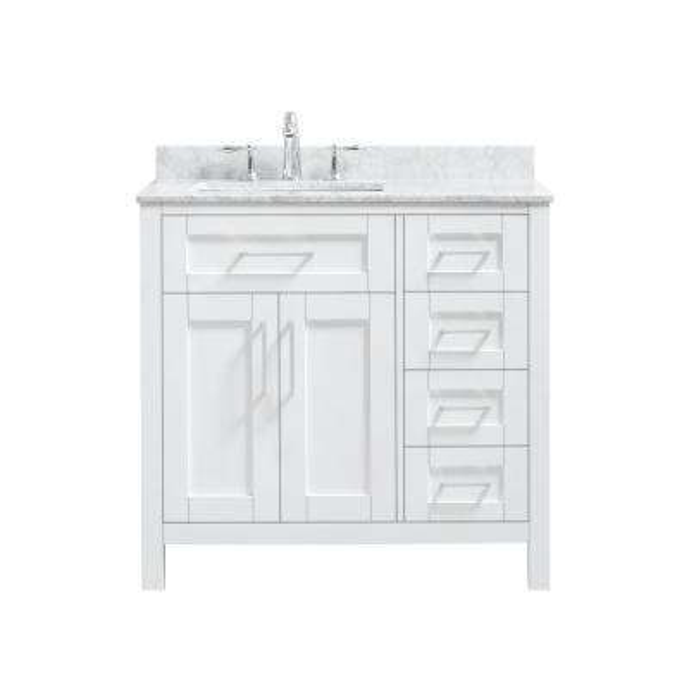 sink on left side bathroom vanities