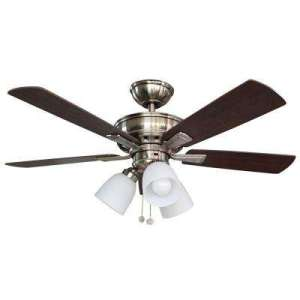 Flush Mount   Ceiling Fans   Lighting   The Home Depot Vaurgas 44 in  LED Indoor Brushed Nickel Ceiling Fan