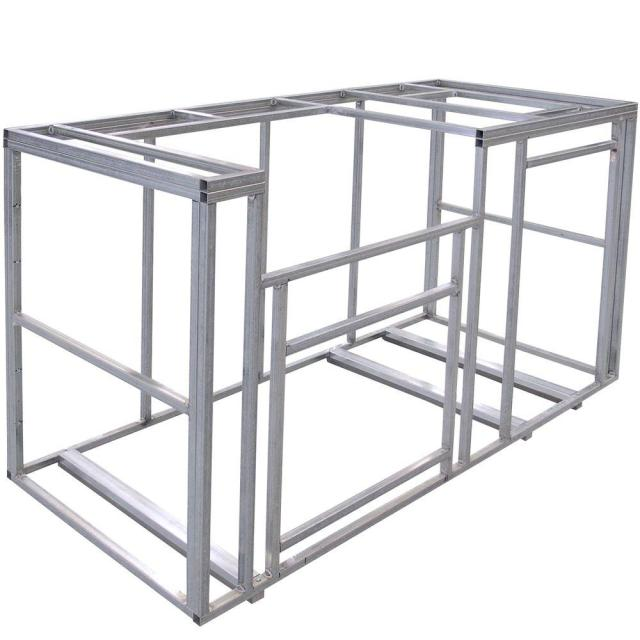 cal flame 6 ft. outdoor kitchen island frame kit-kd-f6002 - the home