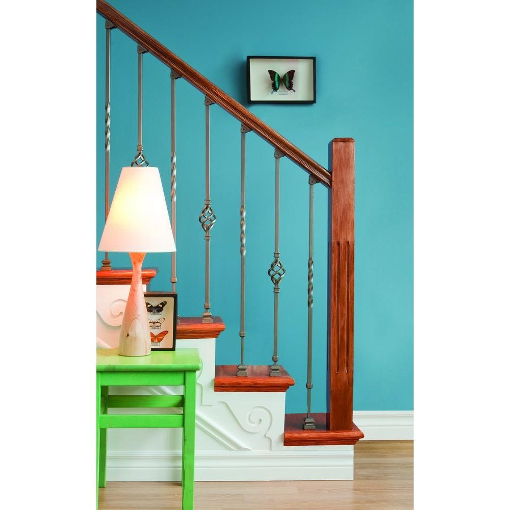 Ole Iron Slides 1 2 In X 1 2 In X 30 1 4 In To 38 In Antique | Iron Balusters Home Depot | Railing Kit | Ole Iron | Staircase Remodel | Oil Rubbed Copper Vein | Baluster Railing