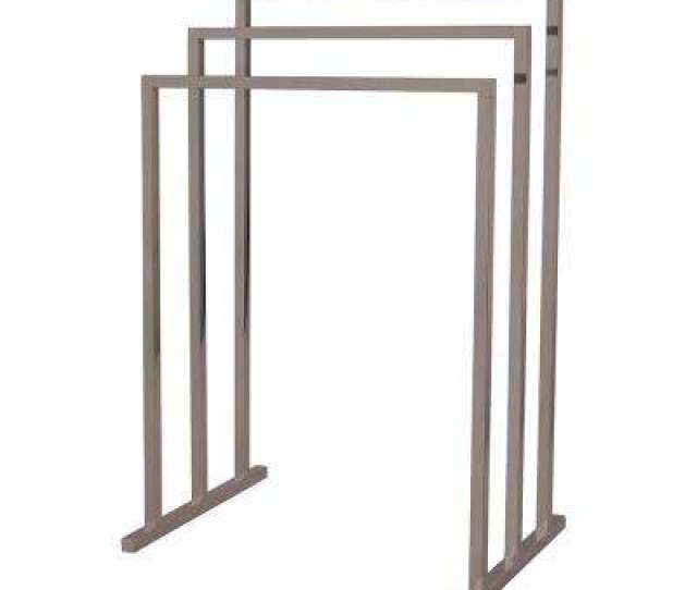 European  Tier Pedestal Steel Construction Towel Rack