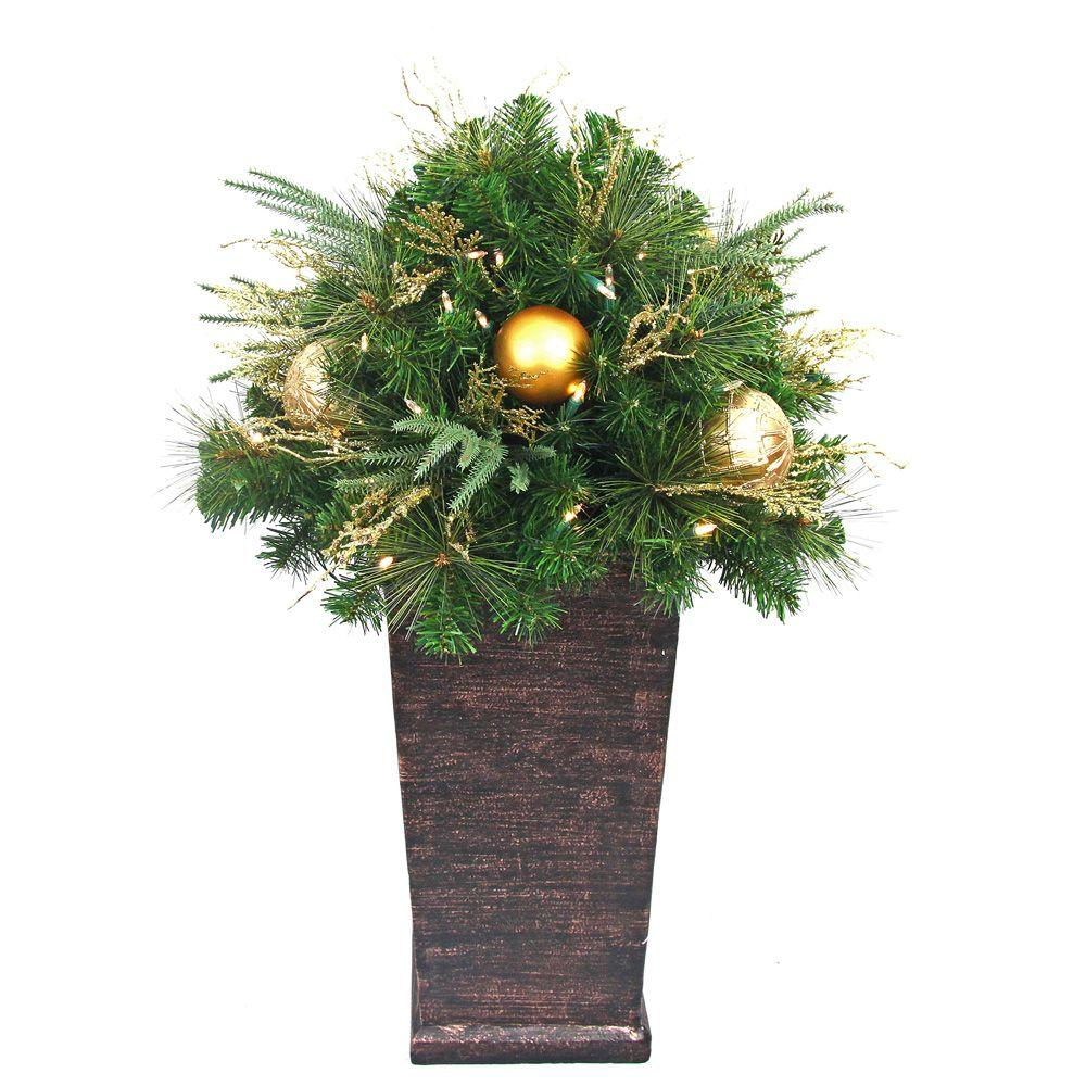 Home Accents Holiday 36 In Valenzia Artificial Topiary