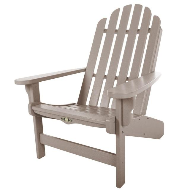 pawleys island durawood essentials adirondack chair in weatherwood
