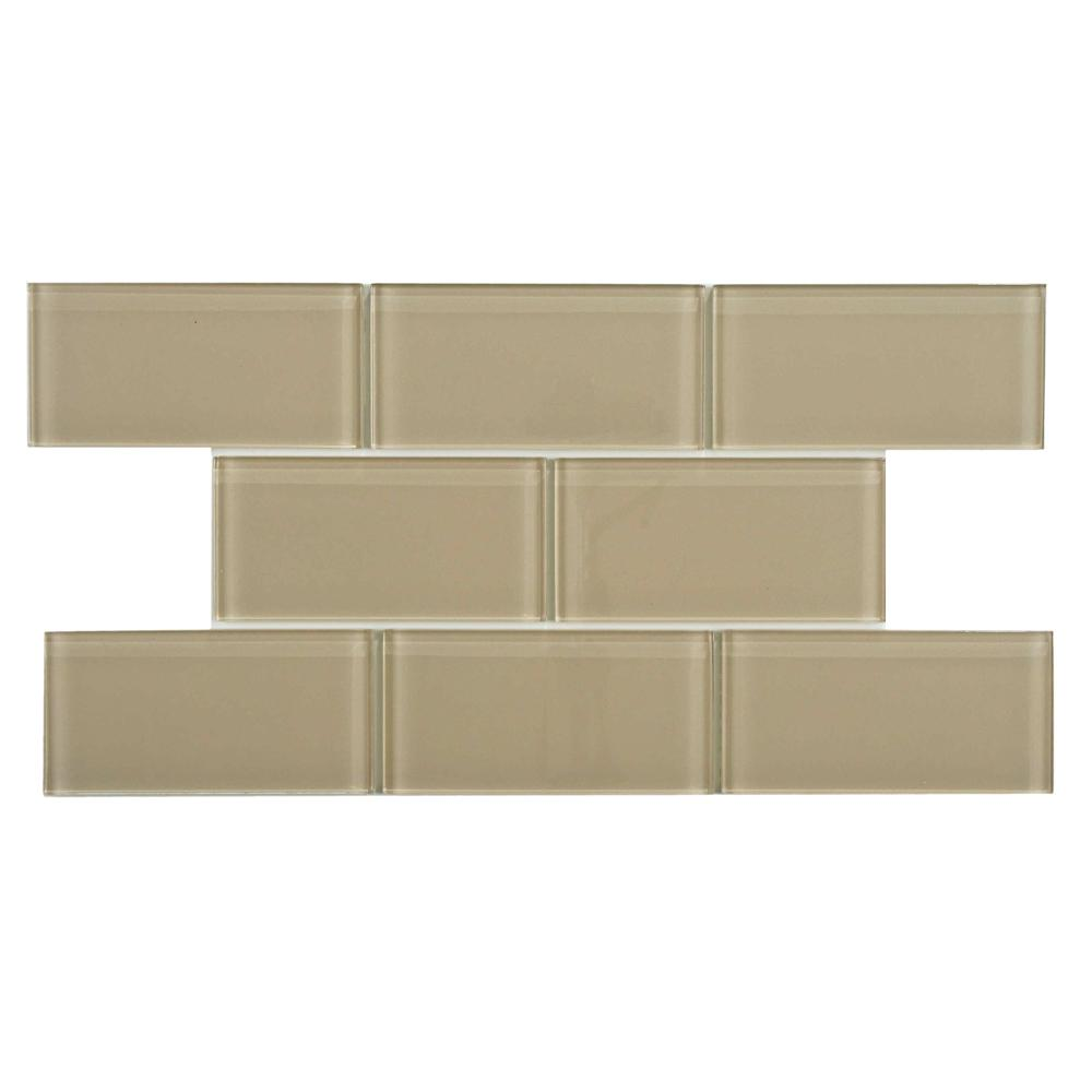 Tessera Subway Sandstone  In X  In Glwall Tile  Sq Ft Pack