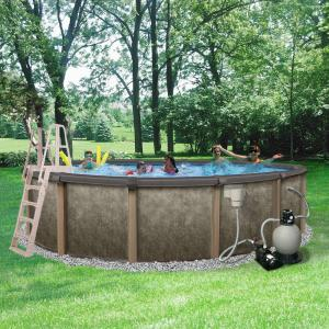 Blue Wave Riviera 27 Ft Round 54 In Deep 8 In Top Rail