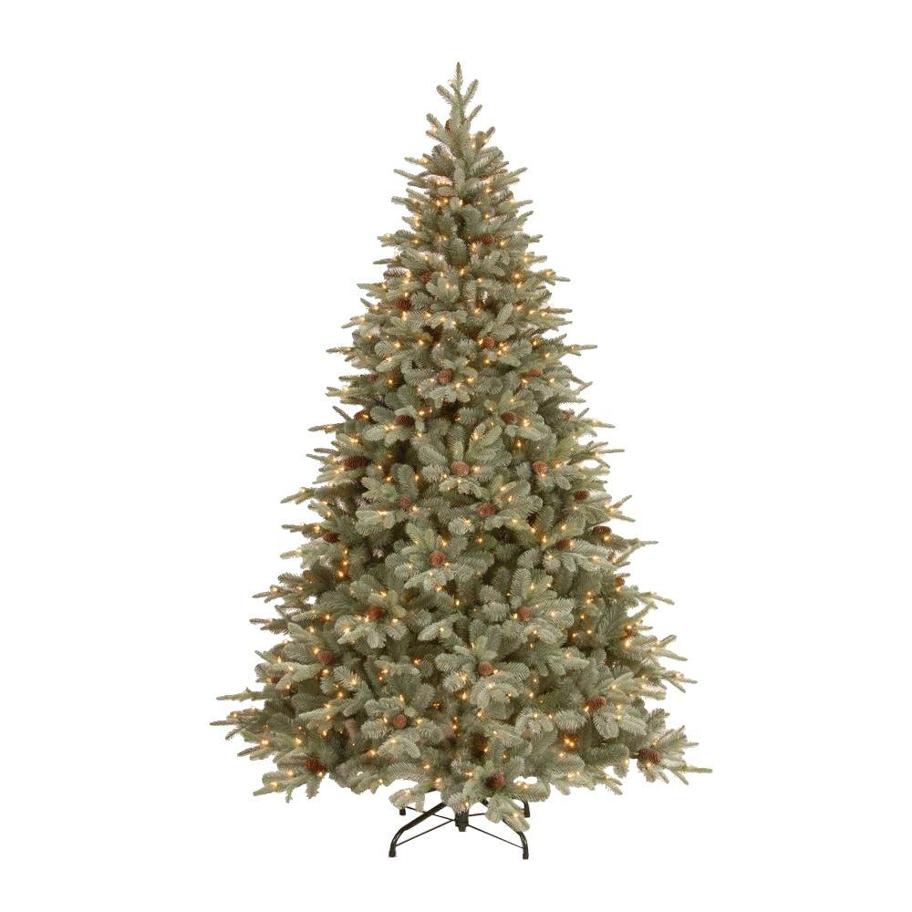 National Tree Company 75 Ft Frosted Arctic Spruce