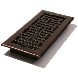 Heat and Air Deflector HD7   The Home Depot Steel Floor Register  Oil Rubbed Bronze
