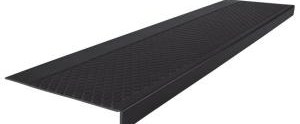 Roppe Heavy Duty Raised Diamond Design Black 12 1 4 In X 42 In | Outdoor Stair Treads Home Depot | Anti Slip Stair | Rugs | Non Slip | Tread Covers | Pressure Treated