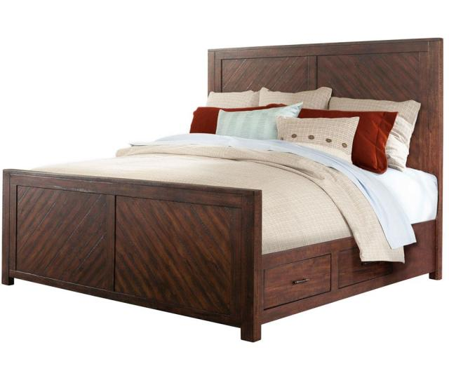 Cambridge Montana Smoky Walnut Queen Storage Bed