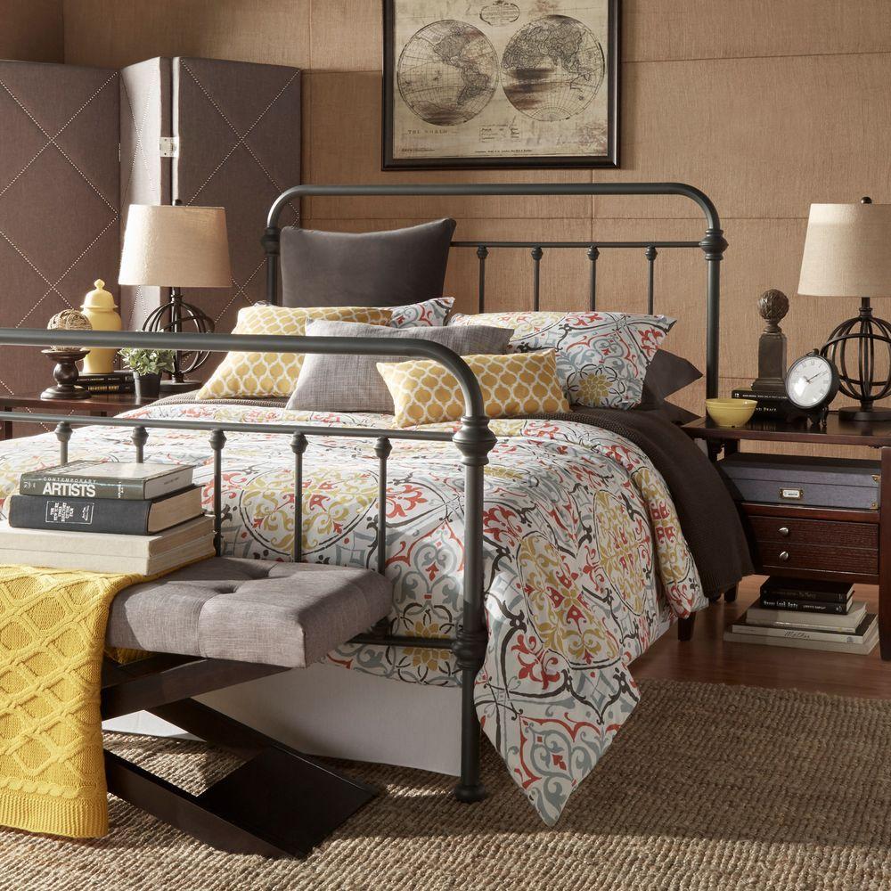 Homesullivan Calabria Grey Queen Bed Frame 40e411bq 1gabed