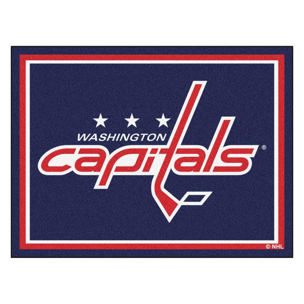 FANMATS NHL Washington Capitals Navy Blue 8 Ft X 10 Ft