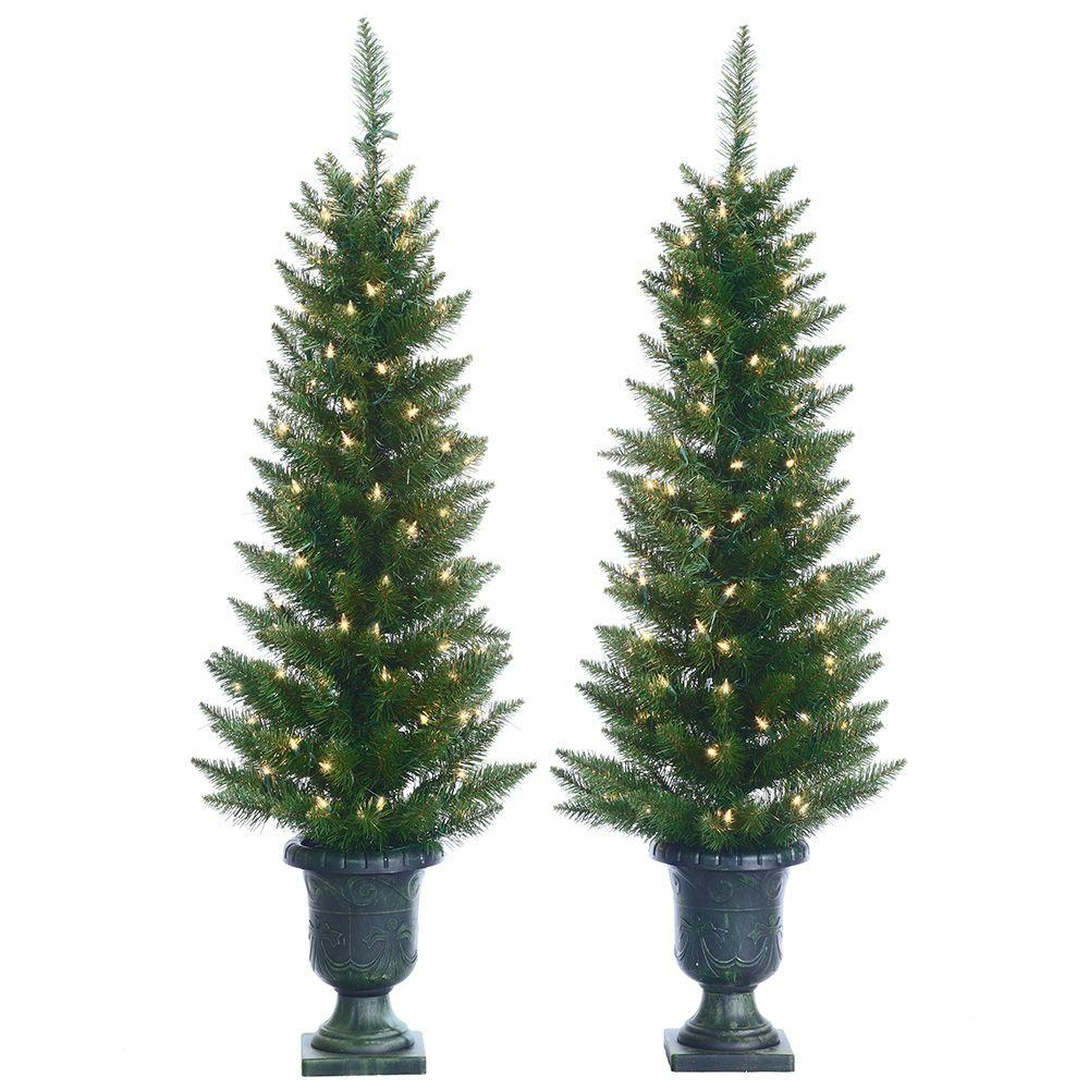 Sterling 4 Ft Pre Lit Cedar Pine Artificial Christmas