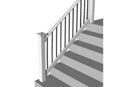 Vinyl Black Deck Railings Decking The Home Depot | Home Depot Handrails For Steps | Metal | Pressure Treated | Balusters | Stair Parts | Deck Stair