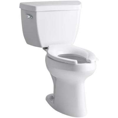 highline classic 2 piece 1 6 gpf single flush elongated toilet in white seat not