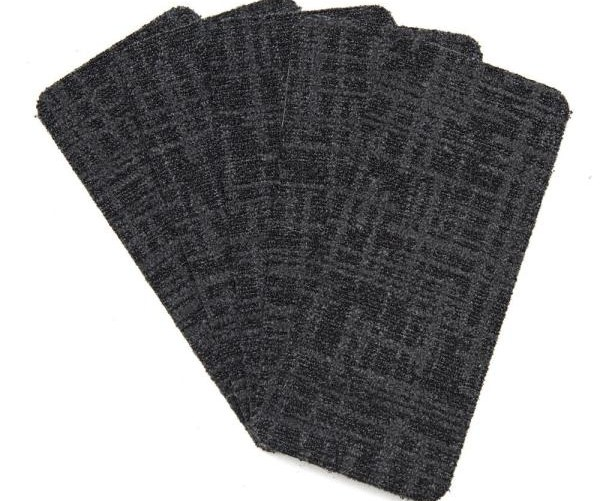 Nance Carpet And Rug Peel And Stick Charcoal Indoor Outdoor 8 In | Rug Treads For Steps | Creative | Covering | Residential | Oak | Turquoise