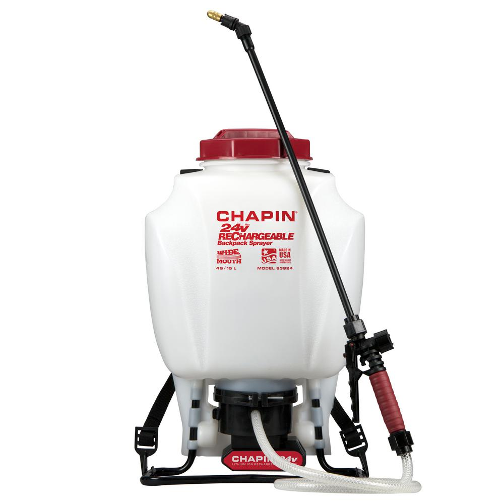 Chapin 4 Gal Rechargeable 24 Volt Lithium Ion Battery Powered Backpack Sprayer 63924 The Home
